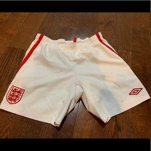 Men's England soccer shorts